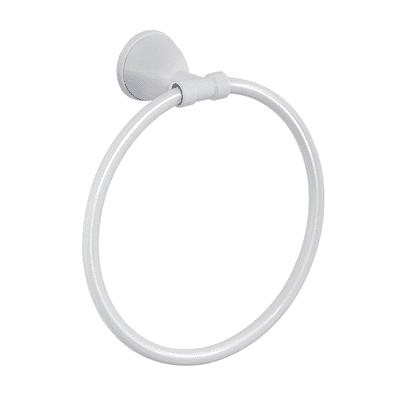 Portasalviette Genziana bianco lucido L 16 cm