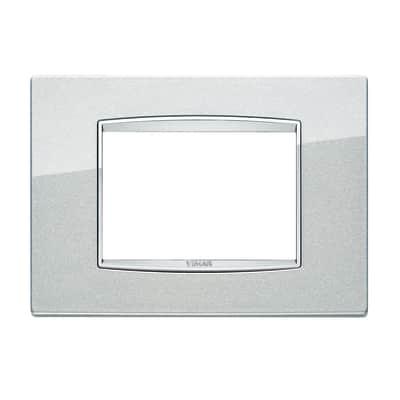 Placca VIMAR Eikon 3 moduli argento metal