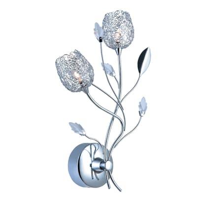 Applique Adriana grigio, in metallo, 39x15 cm, G4 20W IP20 SEYNAVE