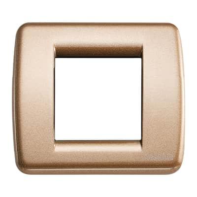 Placca VIMAR Idea 2 moduli bronzo metallizzato