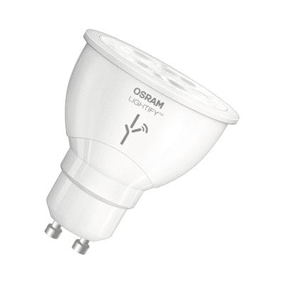 Lampadina smart lighting LED, WIFI, GU10, Faretto, Trasparente, CCT, 6W=350LM (equiv 50 W), 120° , OSRAM