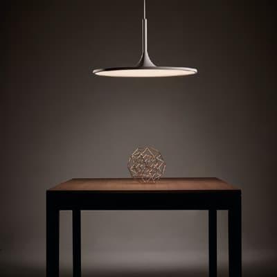 Lampadario Halo bianco, in acrilico, diam. 43.8 cm, LED integrato 33W 1700LM IP20