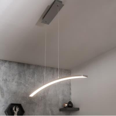 Lampadario Moderno Muda LED integrato cromo, in alluminio, L. 90 cm, INSPIRE