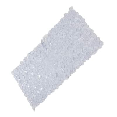 Tappeto antiscivolo Stones in pvc trasparente 73 x 36 cm