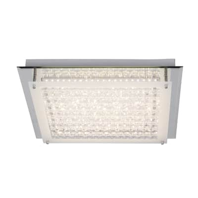 Plafoniera barocco Diamond LED integrato cromo, in metallo, 45x45 cm, INSPIRE