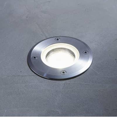 Faretto da incasso da esterno Atlanta in alluminio , inox, diam. 11 cm 11x15cm GU10 IP67 INSPIRE