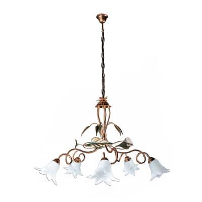 Lampadario Mirella bianco, in metallo, diam. 87 cm, E14 5xMAX42W IP20