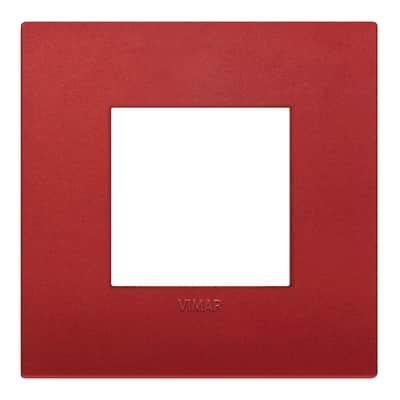 Placca VIMAR Arké 2 moduli rosso matt