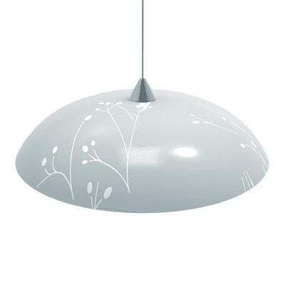 Lampadario Twigs bianco, in vetro, diam. 40 cm, E27 MAX60W IP20 LUMICOM