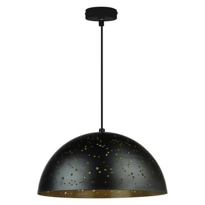 Lampadario Glamour Ydro oro, nero in metallo, D. 40 cm, INSPIRE