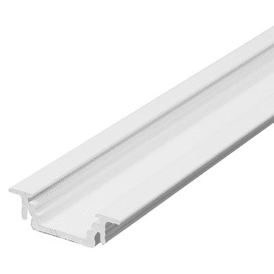 Profilo per strisce led, in alluminio, bianco, 2 m