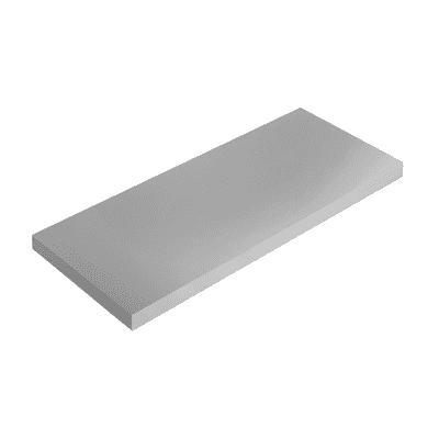 Mensola Spaceo L 56 x P 20 cm, Sp 1.8 cm grigio