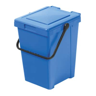 Pattumiera manuale azzurro 35 L