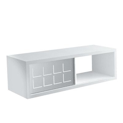 Mensola a cubo L 60 x H 20 cm, Sp 25 mm bianco