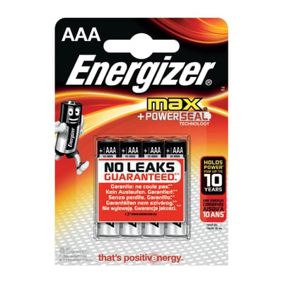 Pila LR03 AAA 1.5 V ENERGIZER MAX 4 batterie