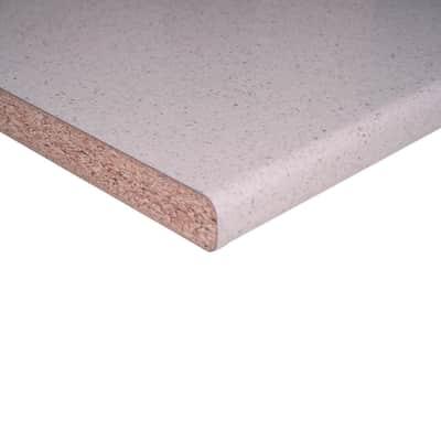Piano di lavoro bianco Glitter L 304 x H 60 cm, spessore 3.8 cm