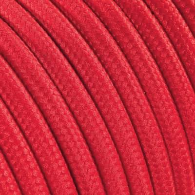 Cavo tessile MERLOTTI 3 fili x 0,75 mm² rosso 10 metri