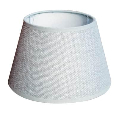 Paralume per lampada da tavolo personalizzabile  Ø 40 cm bianco avorio in tela di juta