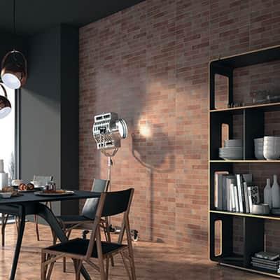 Piastrella Brick L 34 x H 48 cm rosso
