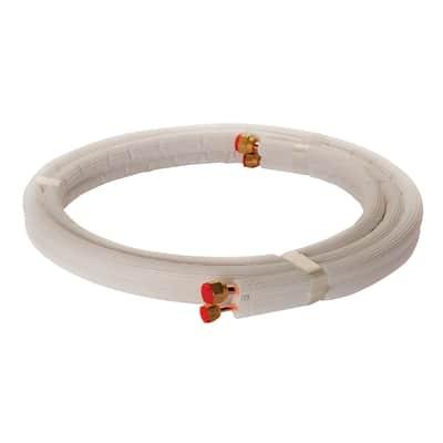 Tubo di rame isolato in kit 1/4 + 3/8 sp. 1 mm 3 m 300 cm