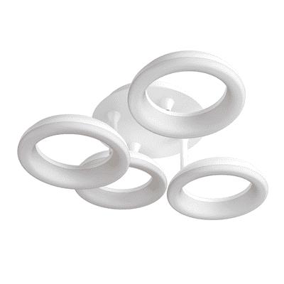 Plafoniera Kuy bianco, in alluminio, diam. 62, LED integrato 32W IP20 INSPIRE