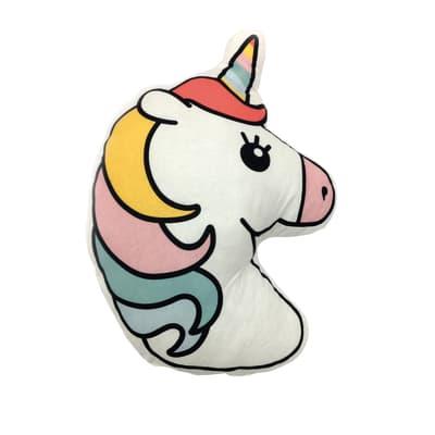 Cuscino INSPIRE Unicorno fucsia 50x66 cm Ø 20 cm
