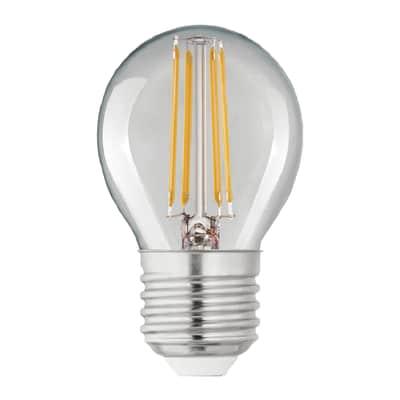 Lampadina Filamento LED E27 sferico bianco caldo 4W = 470LM (equiv 40W) 360° LEXMAN