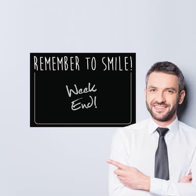 Sticker Remember to smile 47.5x70 cm