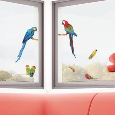 Sticker Parrots 15.5x34 cm