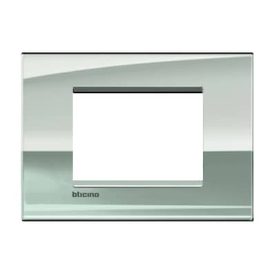 Placca BTICINO Living Light Air 3 moduli palladio