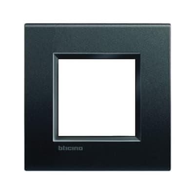 Placca BTICINO Living light 2 moduli antracite opaco