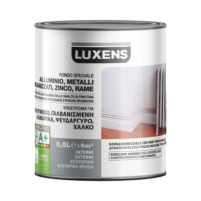 Primer precolorazione LUXENS base acqua interno / esterno alluminio galvanizzato 0.5 L