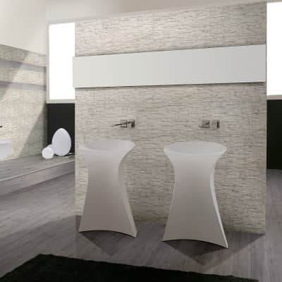 Rivestimento Granito Carrara 31 x 62 cm sp. 9 mm bianco