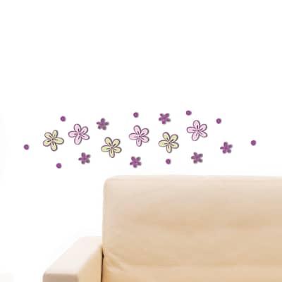 Sticker Little flowers 15.5x34 cm