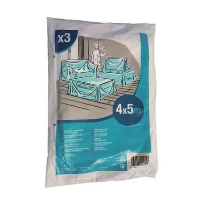 Telo di protezione 20 mq 5 X 4 m azzurro 3 pezzi