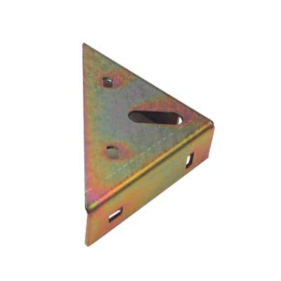 Piastra angolare standers in acciaio zincato L 100 x Sp 2 x H 25 mm