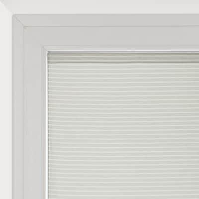 Tendina vetro Milly bianco e beige tunnel 90 x 230 cm