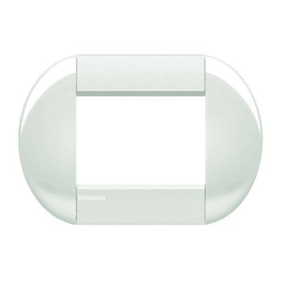 Placca BTICINO Tonda 3 moduli bianca