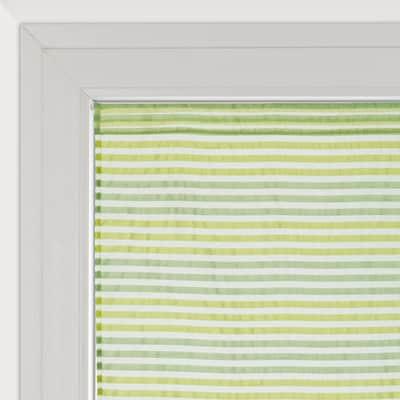 Tendina vetro Righe orizzontali verde tunnel 60x240 cm