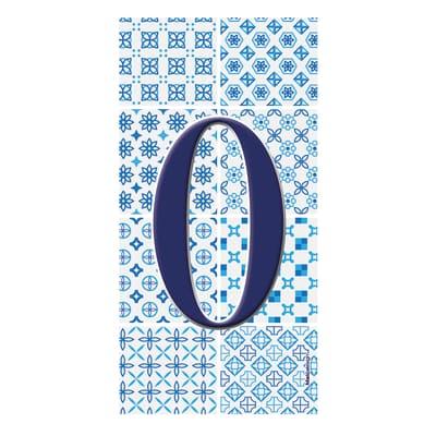 Numero Arabesque 0 , 7.5 x 15 cm