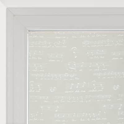 Tendina vetro Spartito ecru tunnel 90 x 240 cm