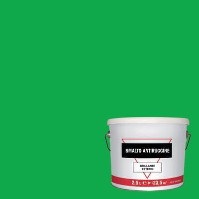 Smalto antiruggine verde 2.5 L