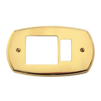 Placca CAL 1 modulo ottone lucido compatibile con magic