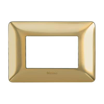 Placca BTICINO Matix 3 moduli oro
