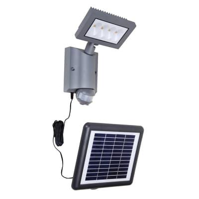 Applique Toscane LED integrato in plastica grigio 8W 400LM IP54 INSPIRE