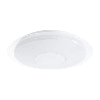 Plafoniera Vizzini bianco, in plastica, diam. 56 , IP20 INSPIRE