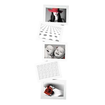 Cornice multifoto Storty bianco 5 foto