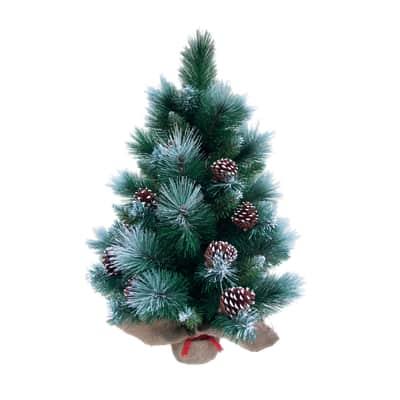 Albero di Natale artificiale mini Frozen verde H 60 cm