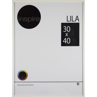 Cornice INSPIRE Lila bianco per foto da 30x40 cm