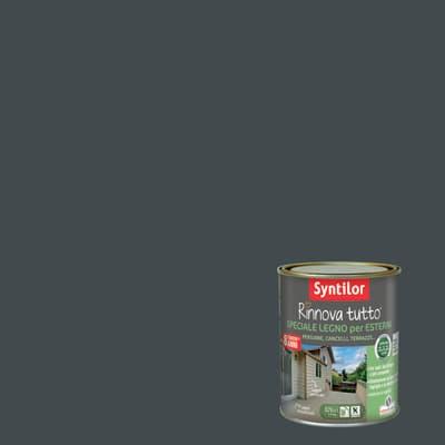 Smalto per legno da esterno base acqua SYNTILOR Rinnova Tutto grigio antracite 0.75 L